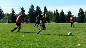 Speed and agility from one of our top soccer athletes.