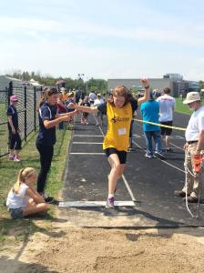 A personal best in the long jump.