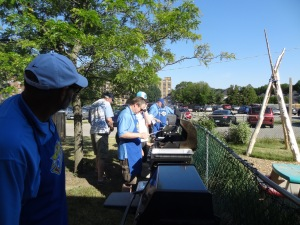 Knights of Columbus prepare the BBQ