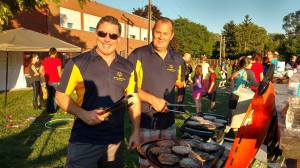 Coaches Gerry and Andy Man the BBQs!
